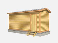 Проект мобильной бани 6×2,3