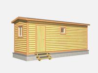 Проект мобильной бани 7×2,3