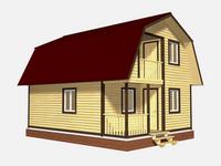 Проект дома Тихомир 6x8