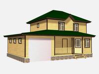 Проект дома Милан 12x8